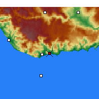 Nearby Forecast Locations - Bozyazı - Map