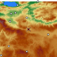 Nearby Forecast Locations - Bozüyük - Map