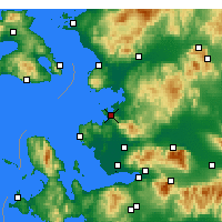 Nearby Forecast Locations - Aliağa - Map