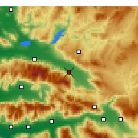 Nearby Forecast Locations - Alaşehir - Map