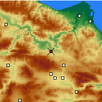 Nearby Forecast Locations - Vezirköprü - Map