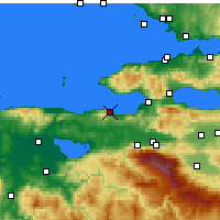Nearby Forecast Locations - Mudanya - Map