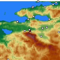 Nearby Forecast Locations - Kestel - Map