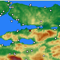 Nearby Forecast Locations - Karamürsel - Map