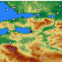 Nearby Forecast Locations - İznik - Map