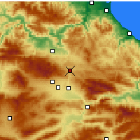 Nearby Forecast Locations - Havza - Map