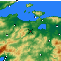 Nearby Forecast Locations - Gönen - Map