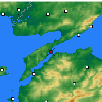 Nearby Forecast Locations - Gelibolu - Map