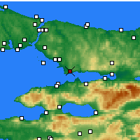 Nearby Forecast Locations - Gebze - Map