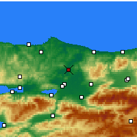 Nearby Forecast Locations - Ferizli - Map