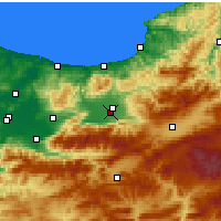 Nearby Forecast Locations - Düzce - Map