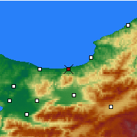 Nearby Forecast Locations - Akçakoca - Map