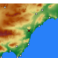 Nearby Forecast Locations - Villaricos - Map