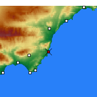 Nearby Forecast Locations - Carboneras - Map