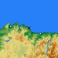 Nearby Forecast Locations - Burela - Map