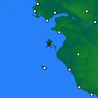 Nearby Forecast Locations - Noirmoutier - Map