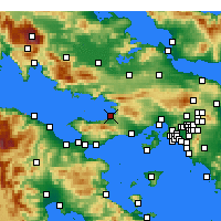 Nearby Forecast Locations - Kato Alepochori - Map