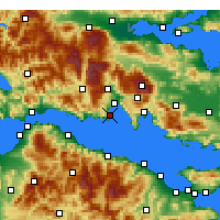 Nearby Forecast Locations - Galaxidi - Map