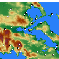 Nearby Forecast Locations - Aghios Georgios - Map