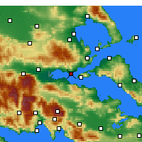 Nearby Forecast Locations - Paralia Rachon - Map