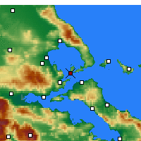 Nearby Forecast Locations - Aghia Kyriaki - Map