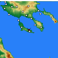 Nearby Forecast Locations - Pefkochori - Map