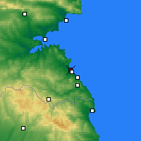 Nearby Forecast Locations - Kiten - Map