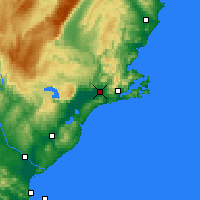 Nearby Forecast Locations - Mosgiel - Map
