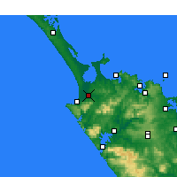 Nearby Forecast Locations - Kaitaia - Map