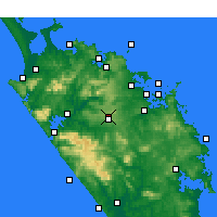 Nearby Forecast Locations - Kaikohe - Map