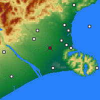 Nearby Forecast Locations - Rolleston - Map