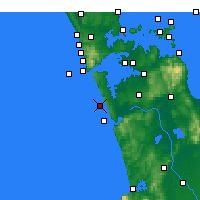 Nearby Forecast Locations - Karioitahi - Map