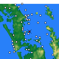 Nearby Forecast Locations - Tiritiri Matangi Island - Map