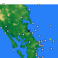 Nearby Forecast Locations - Waipu Cove - Map