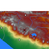 Nearby Forecast Locations - Quetzaltenango - Map