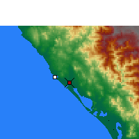 Nearby Forecast Locations - Mazatlán - Map