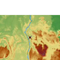 Nearby Forecast Locations - Canaima Airport - Map