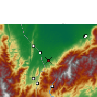 Nearby Forecast Locations - La Fría - Map