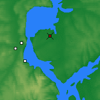 Nearby Forecast Locations - Ulyanovsk - Map