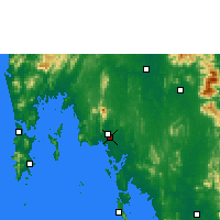 Nearby Forecast Locations - Krabi - Map