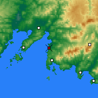 Nearby Forecast Locations - Bolshoy Kamen - Map