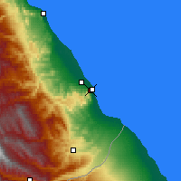 Nearby Forecast Locations - Derbent - Map