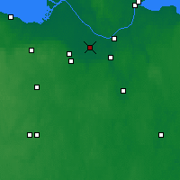 Nearby Forecast Locations - Kolpino - Map