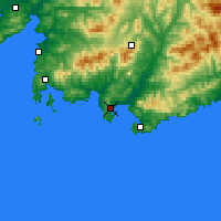 Nearby Forecast Locations - Nakhodka - Map