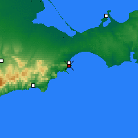 Nearby Forecast Locations - Feodosia - Map