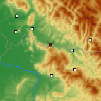 Nearby Forecast Locations - Tiachiv - Map