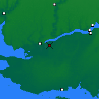 Nearby Forecast Locations - Tsiurupynsk - Map