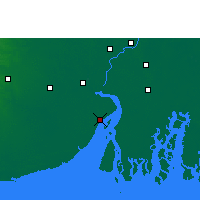 Nearby Forecast Locations - Haldia - Map
