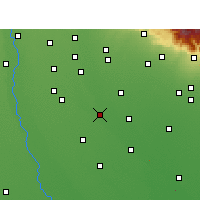 Nearby Forecast Locations - Moradabad - Map