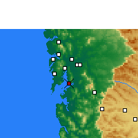 Nearby Forecast Locations - Navi Mumbai - Map